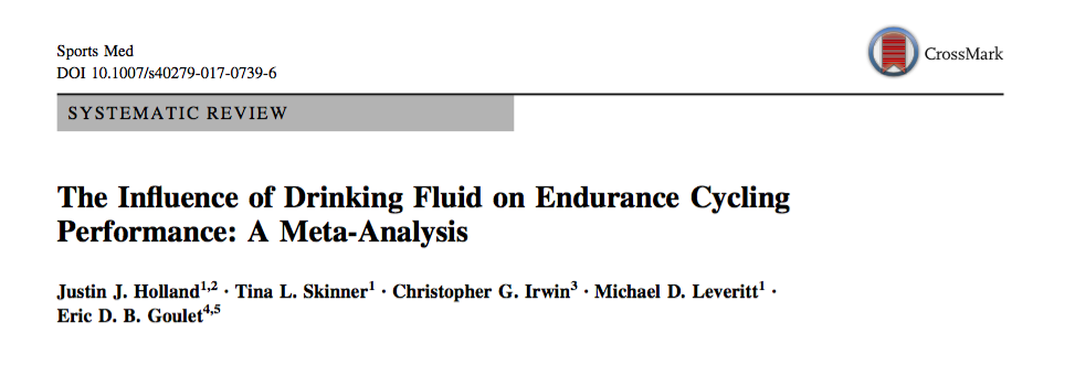 Cycling Fluid Intake
