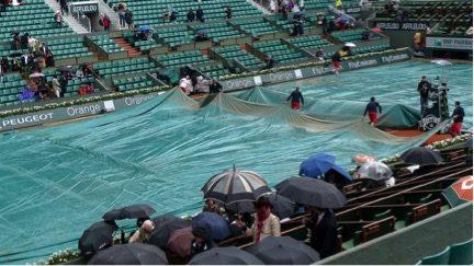 Win the rain delay and win the match!